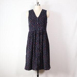 vintage 90s paisley corduroy jumper dress size 6p